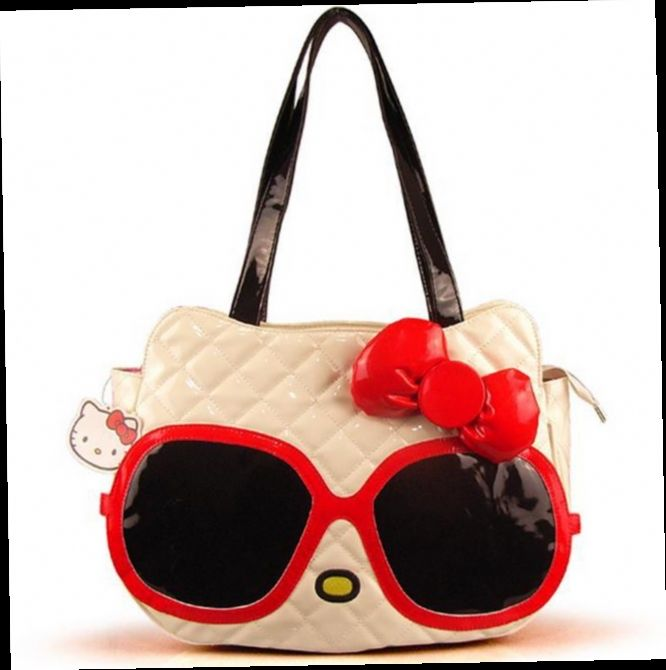 42.94$  Watch here - http://alipbz.worldwells.pw/go.php?t=32335302077 - Designer famous brand Hello Kitty lolita big bag women cartoon leather large casual tote bow handbag bolsos mujer de marca 49