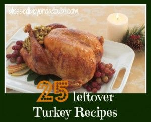 25 Turkey Leftover Recipes including Turkey Sloppy Joes, Turkey Enchiladas and many more!    #recipes, #food, #turkey