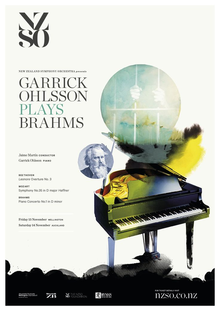 Garrick Ohlsson Plays Brahms 13 & 14 November 2015. Formidable American piano master Garrick Ohlsson is famous for his vast repertoire and the exceptional intelligence of his playing. In this concert he applies his brilliance to one of the most intense works in the repertoire, Brahms' blazing and emotional First Piano Concerto. https://www.nzso.co.nz/concerts/concert/garrick-ohlsson-plays-brahms/