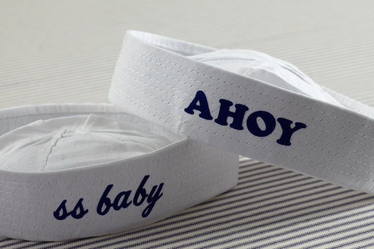 Sailor Cap. Cute as a table accent or wearable accessory for baby.