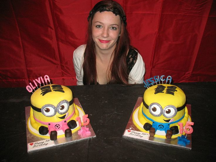 MINION BIRTHDAY CAKE FOR TWINS JESSICA AND OLIVIA www.frescofoods.co.nz email: fresco@woosh.co.nz