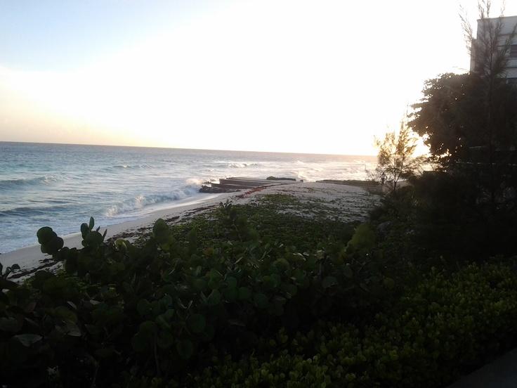 sun beginning to set #BarbadosSets Barbados