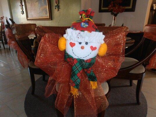 Caras para decorar sillas o cojines en navidad elaboradas en paño lency y flee 100% a mano. Informes: 3145449524 - 3008390190 E-mail: marybarrancog@gmail.com #Barranquilla #Colombia #Manualidades