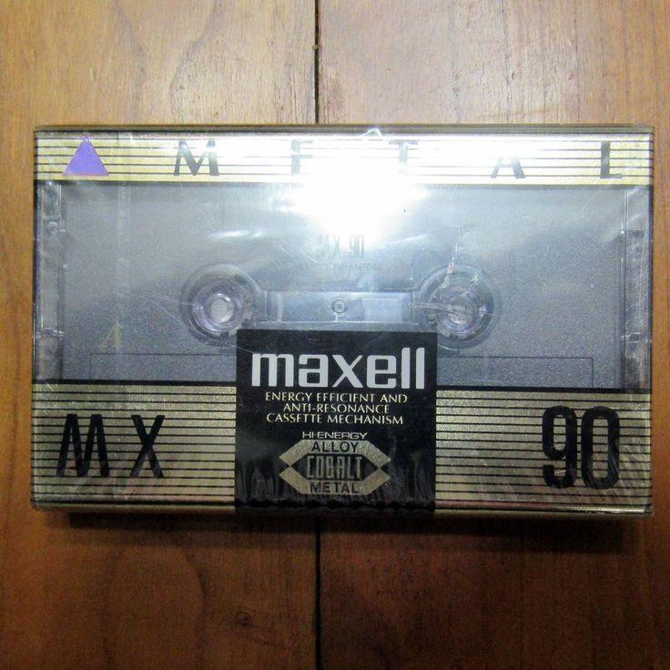 Maxell MX 90 Metal Bias Type IV Audio Cassette New Sealed Hi Energy Alloy Cobalt…