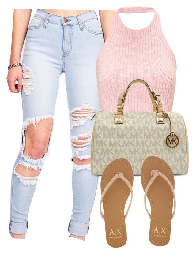 Untitled #1142 by zykira on Polyvore featuring polyvore, fashion, style, Armani Exchange and Michael Kors