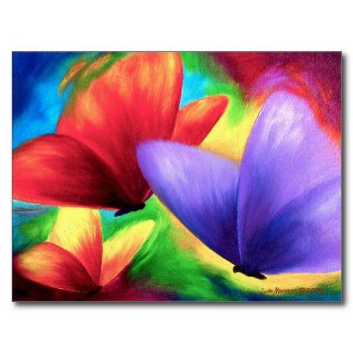 pintura_colorida_de_la_mariposa_multi_postales-