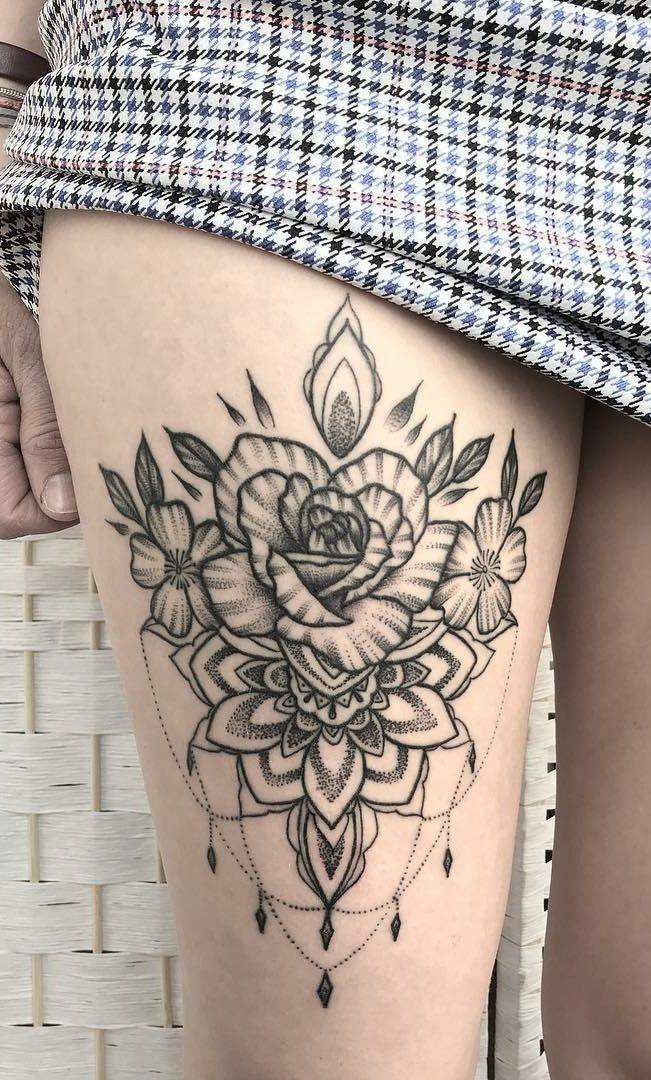 Tatuagens Femininas na Coxa → Confira as 130 Melhores da