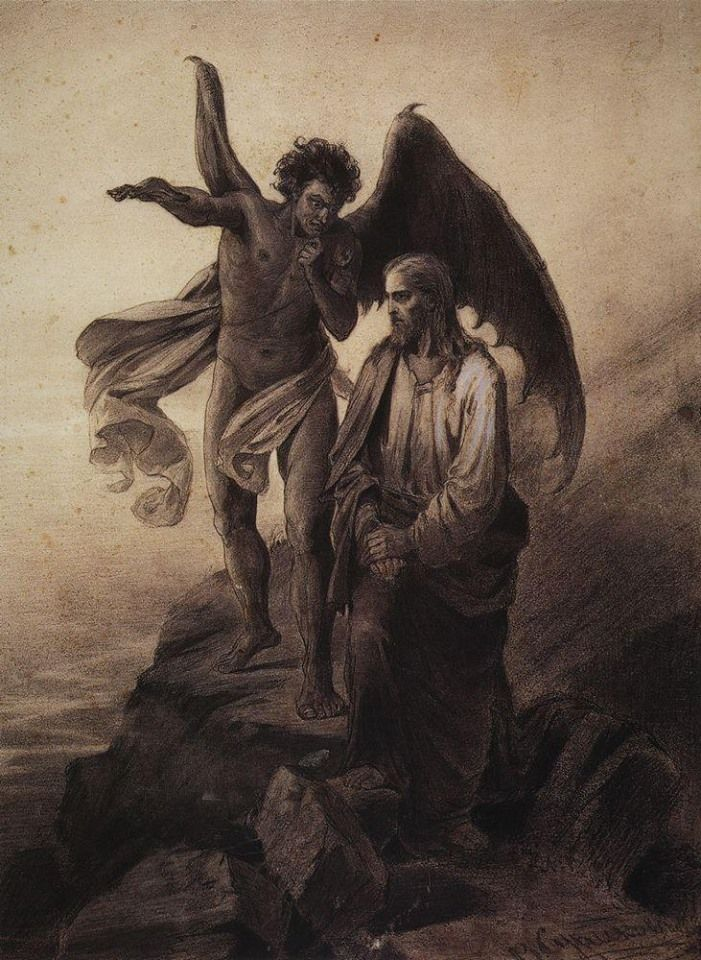 Vasily Surikov~Temptation of Christ, 1872