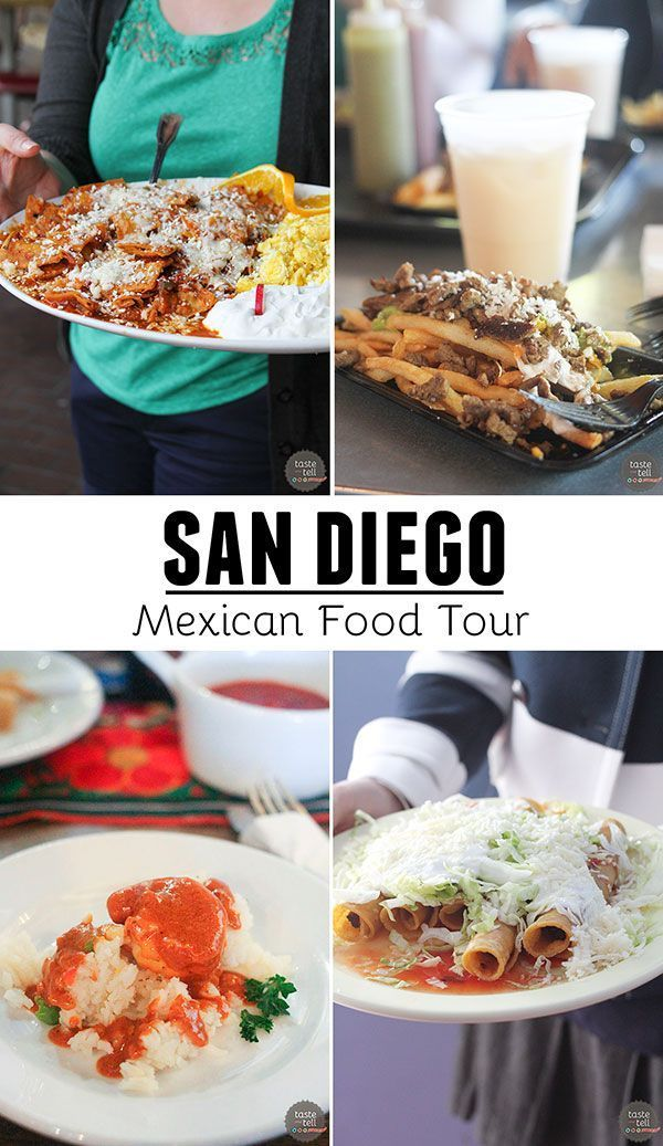 A foodie tour of 4 of the best Mexican restaurants in San Diego, CA.