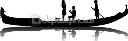 propuesta romántica en una góndola veneciana — Vector stock © Tinica #10747645