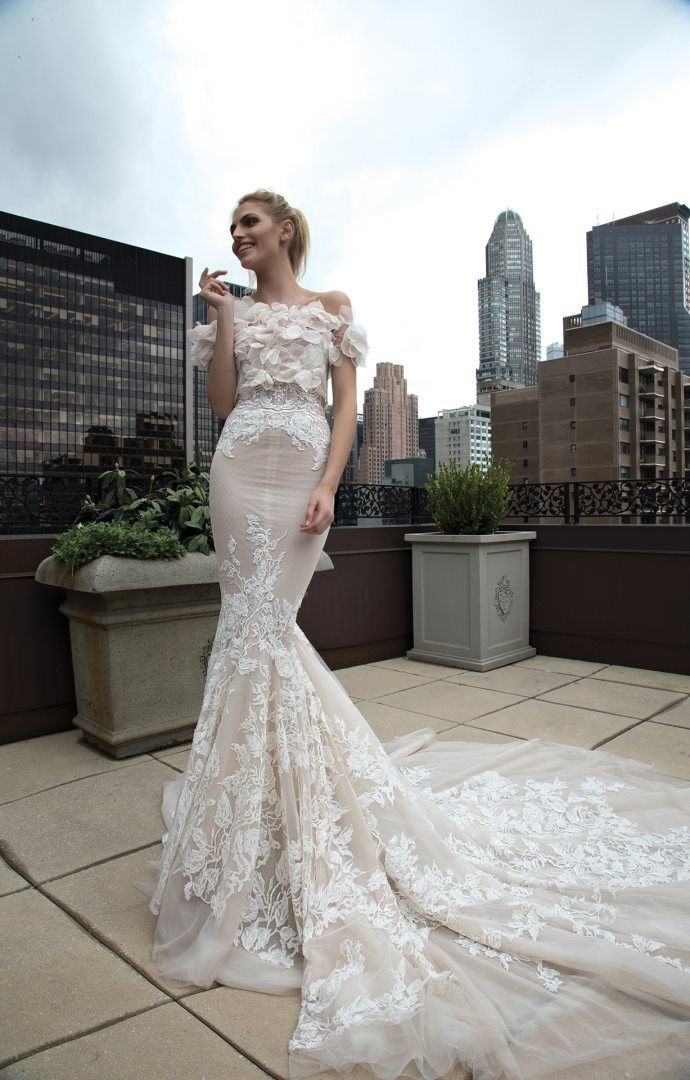 Inbal Dror 2016 Wedding Dresses , Off the shoulder Mermaid wedding dress | itakeyou.co.uk #mermaid #weddingdress