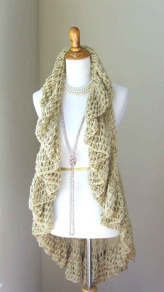 Crochet Scarf or Vest — Crafthubs | Crochet circle jackets ...