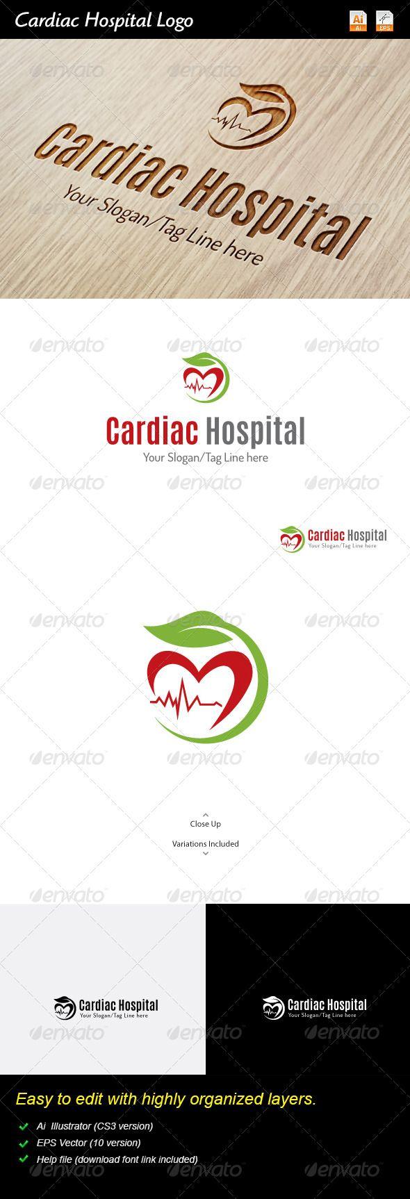 Cardiac Hospital Logo Cartão de visita, Carta