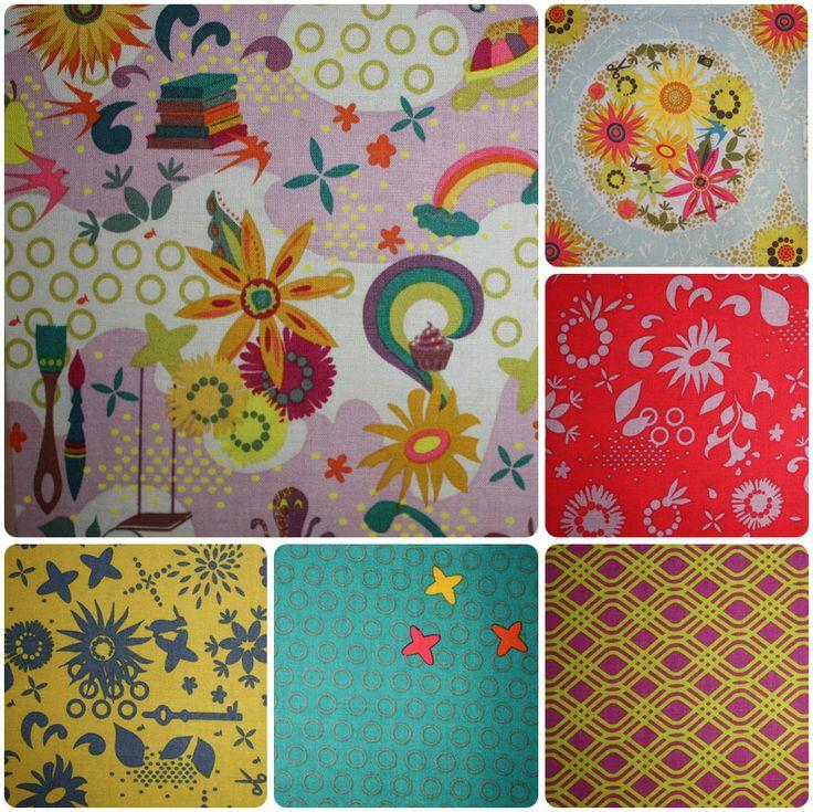 Clover Sunshine range of fabrics by Andover Fabrics
