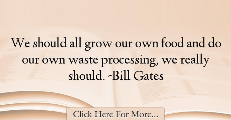 Bill Gates Quotes About Food - 23205