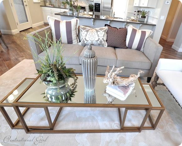 Two Favorite Details The Antique Gold Mirrored Nesting Coffee Tables