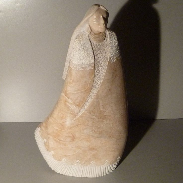 Beyale Alabaster Sculpture Native American Woman From