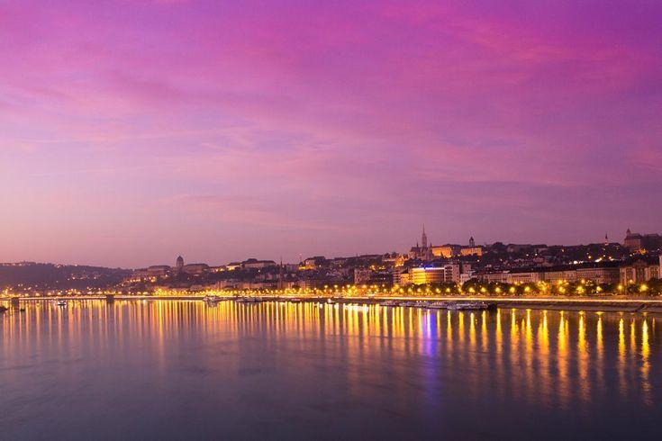 Dawn over the Danube by Laszlo J.Kremmer