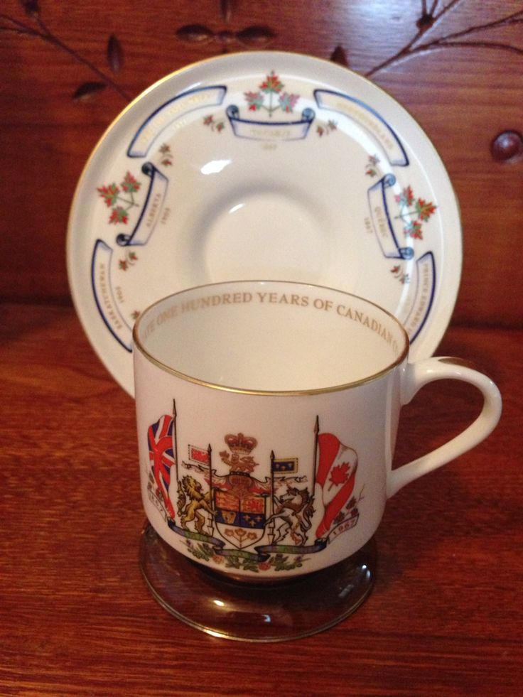 Aynsley Bone China. 1867 100 Years of Canadian Confederation. Researched value $19.99