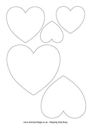 Heart Template (Free Printable)
