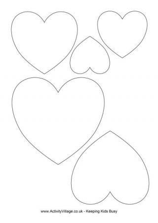 Heart Template (Free Printable)