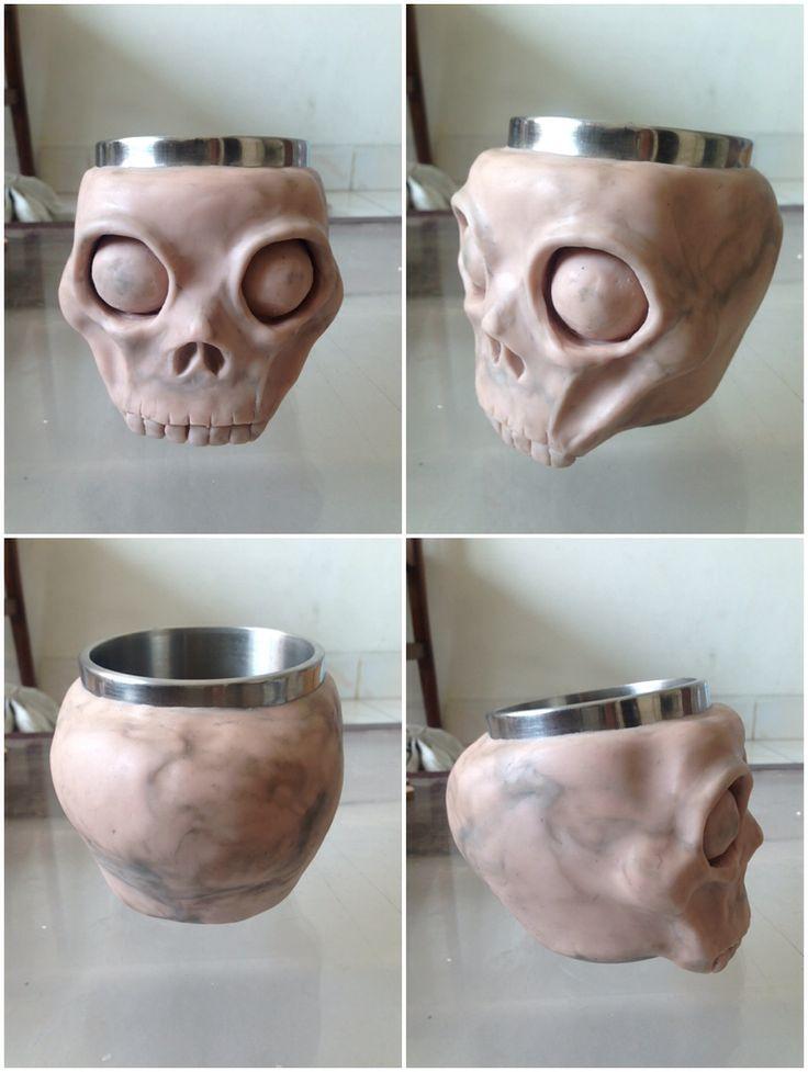 skull mug modeling