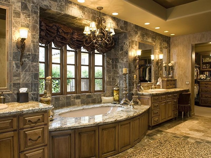 136 best tile and granite bathrooms images on pinterest for Marble master bathroom designs
