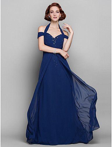 kılıf / gelin elbise sütun yular yere kadar uzanan şifon anne (579.753) - GBP £ 65.36