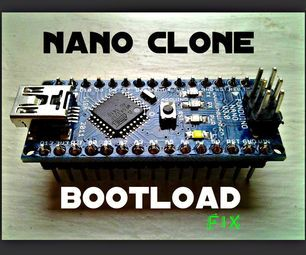 How to Burn a Bootloader to Clone Arduino Nano 3.0