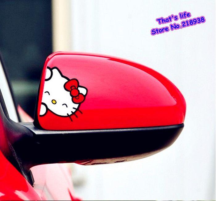 Aliexpress.com : Acquista Carino adesivo auto specchietto retrovisore di accessori decorativi o qualsiasi parte del corpo vettura per ciao kitty N 144 da Fornitori adesivi per telefoni cellulari affidabili su That's life