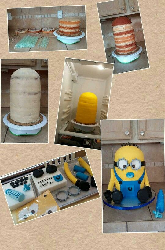 Made this for a Minion Baby shower