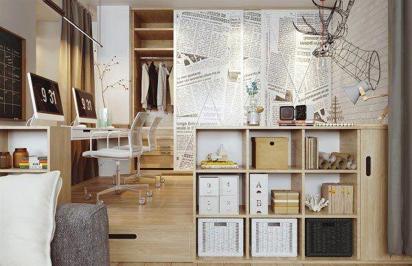 mobilier din lemn deschis