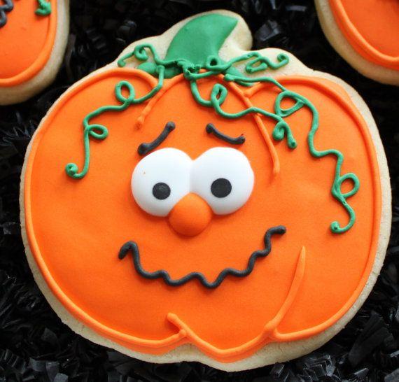 Decorated Pumpkin Cookies Halloween pumpkins by 4theloveofcookies
