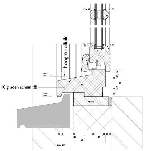 Vensterbank detail van een ROMA . Kievit inbouwrolluik ...