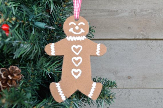 Gingerbread Ornament - Primitive Christmas Ornament - Rustic Christmas Ornament - Tree Trimming - Primitive Home Decor