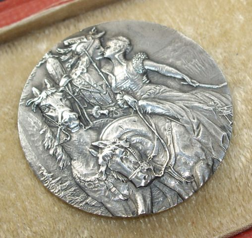 Extraordinary set of antique, hallmarked silver buttons with medieval scene.  Beautiful detail.  Click on link to see all six buttons.