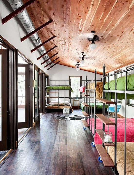 I knew a lady who added a huge room onto her house and filled it with bunk beds so her grandkids would always have a place to stay. I love that idea and I def want to do it one day, too!