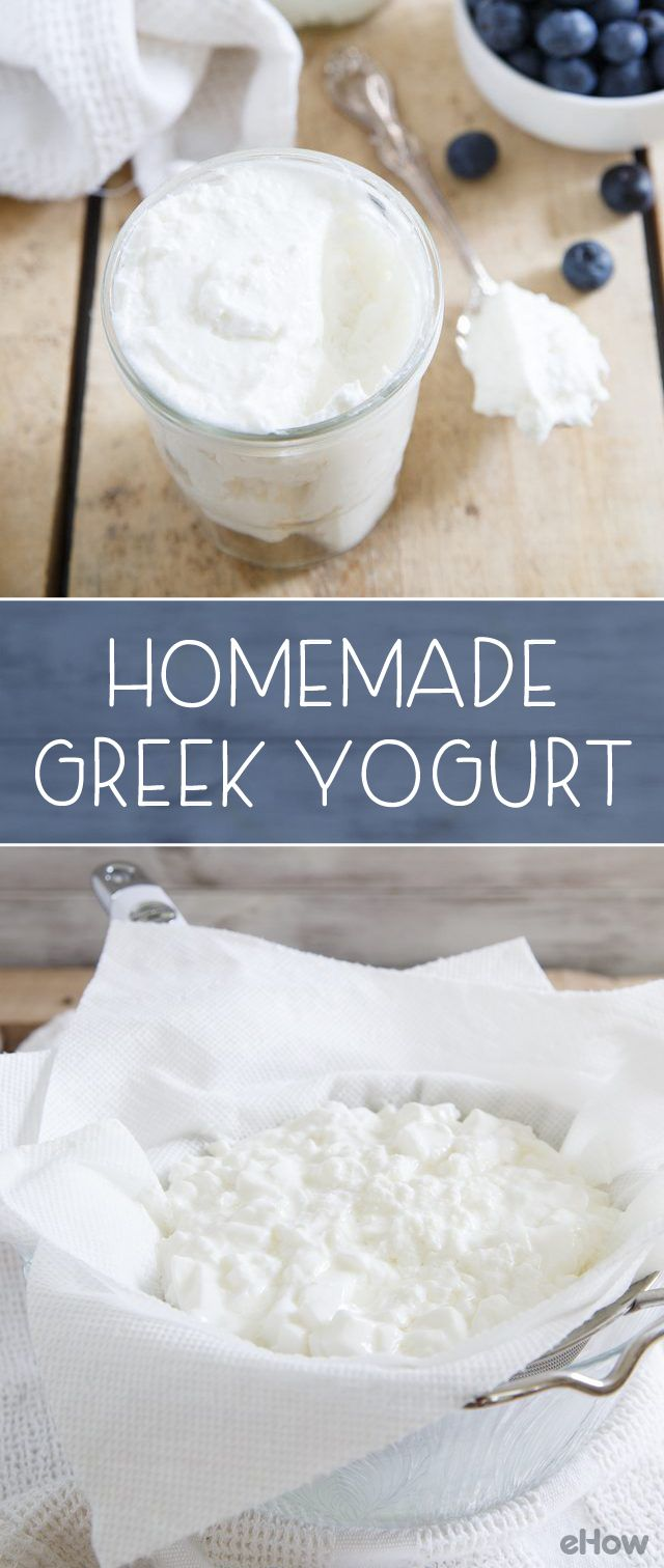 Making yogurt at home is easier than you think! This way you can get creamy, thick and smooth Greek yogurt any time you want! Pair with fresh fruit and honey for a healthy meal! Recipe here: http://www.ehow.com/how_5429930_make-greek-yogurt-home.html?utm_source=pinterest.com&utm_medium=referral&utm_content=freestyle&utm_campaign=fanpage