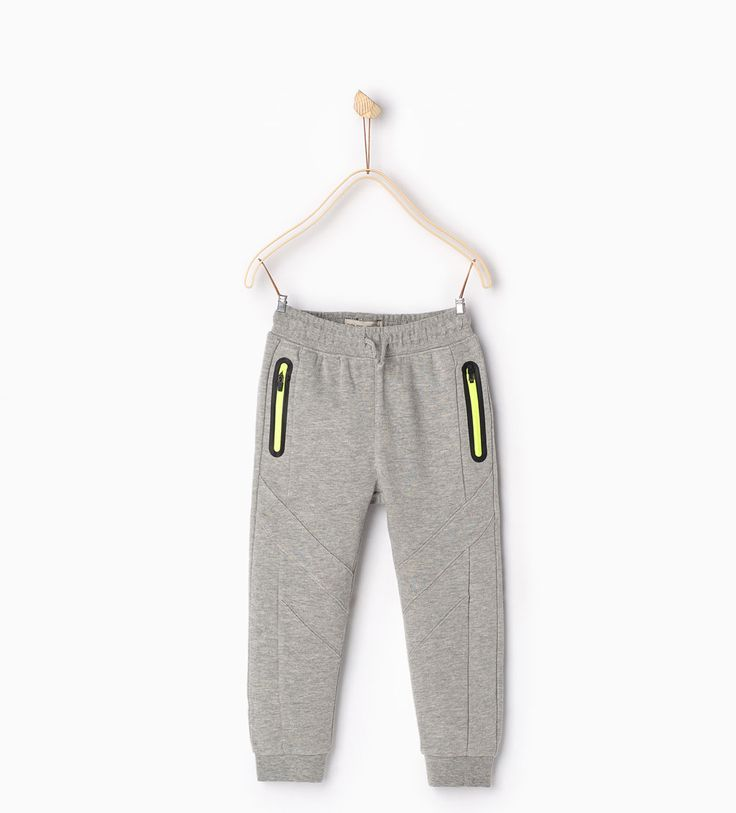 Image 1 of Zipped sport trousers from Zara