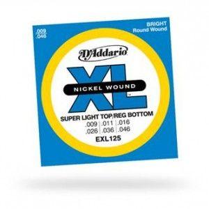 D'Addario – EXL125. Per chitarra elettrica. Scalatura .009 -.046
