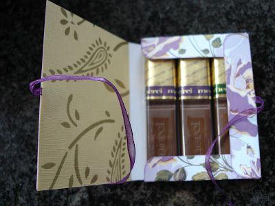 Aleida's kaartjes: Doosjes met merci-chocolade