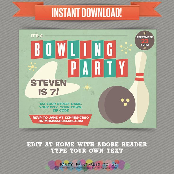 233 best Bowling Party images on Pinterest Cakes, Betty crocker - bowling flyer template