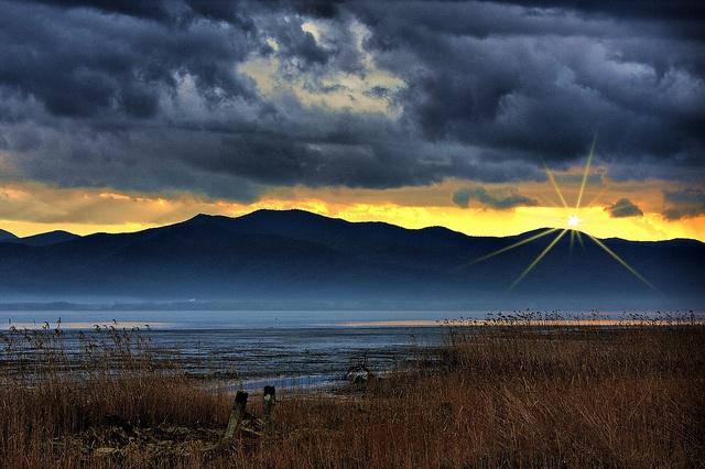 Sunset at Lake kerkini, Serres Greece by Dimtze, via Flickr