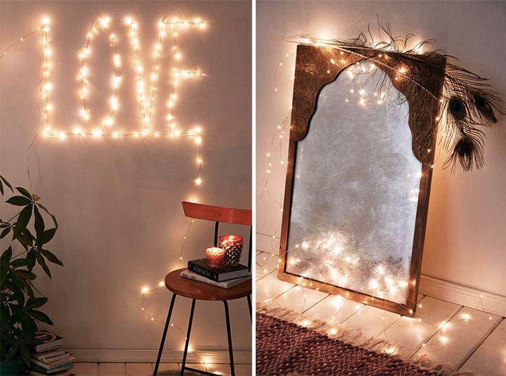 Vinterns mysigaste inredningsdetalj är helt klart tunna ljusslingor (Fairy lights) som lyser upp vilken mörk och kall kväll som helst. Här tipsar jag om hur du kan använda dem och vart de finns!