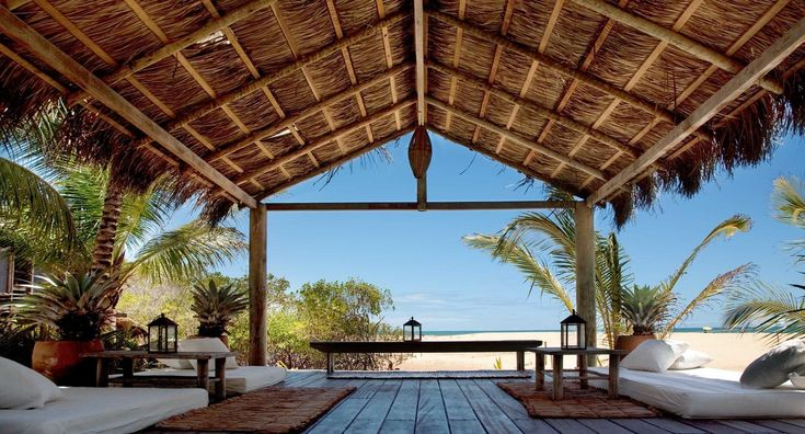UXUA Casa Hotel & Spa Trancoso, Brazil Beach Beachfront Outdoors Scenic views Tropical Waterfront building property Resort outdoor structure Villa swimming pool home porch backyard cottage farmhouse colonnade
