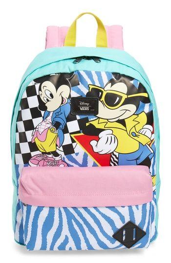 VANS X DISNEY MICKEY S 90TH ANNIVERSARY - RETRO BACKPACK - BLUE.  vans   bags  backpacks f892dea59902e