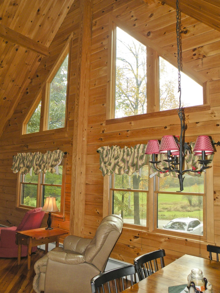 Grand Fireplace W Vaulted Ceilings Beams Open Floor: 18 Best Windows For Vaulted Ceiling Rooms Images On
