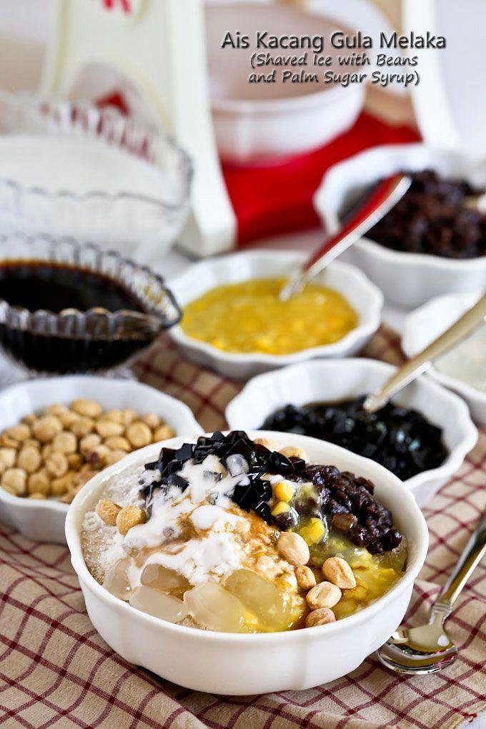 Ais Kacang Gula Melaka (Shaved Ice with Beans and Palm Sugar Syrup) - a…
