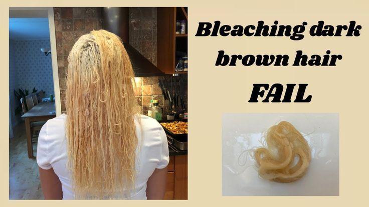 Bleaching Dark Brown Hair At Home Fail Bleaching Brown Dark Fail Hair Home Dark Brown Hair Bleaching Dark Hair Hair Fails