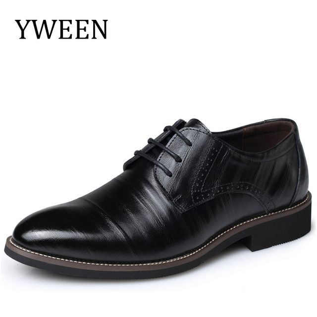 Big Discount $26.95, Buy YWEEN Fashion High Quality Leather Shoes Men,Lace up Business Men's Shoes,Men Dress Shoes,Spring Oxfords shoes